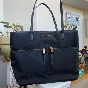 Michael Kors Pocket Nylon Shoulder Tote